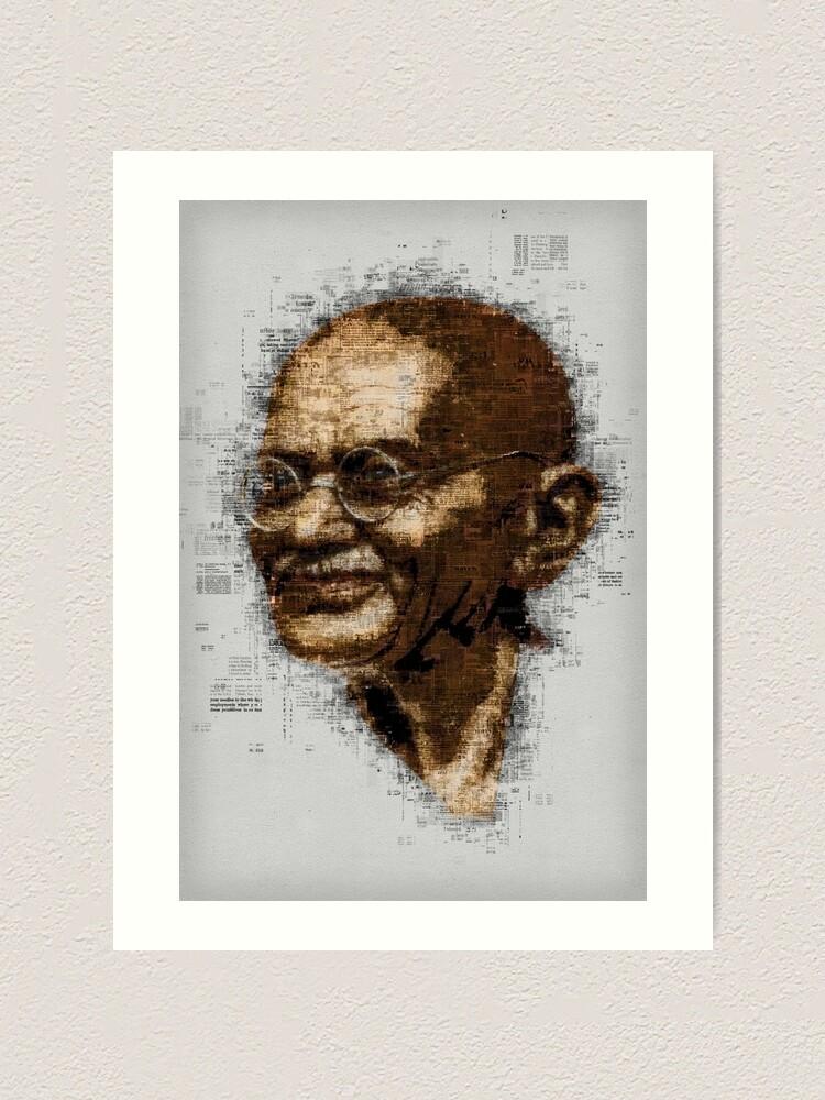 Alternate view of Gandhi Art Print