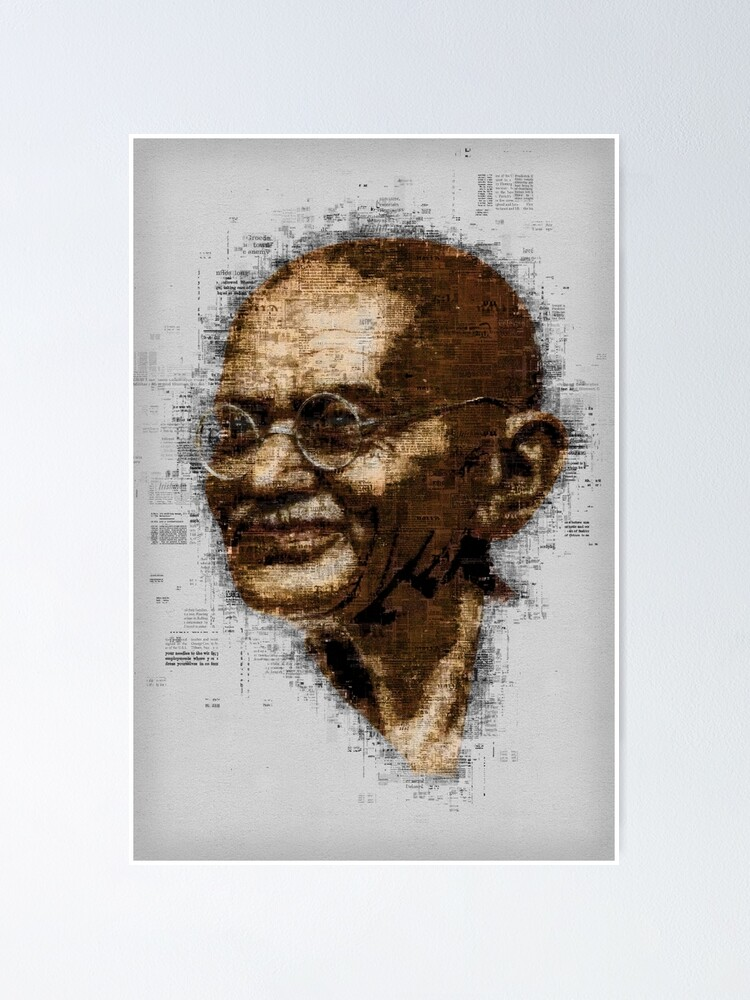 Alternate view of Gandhi Poster