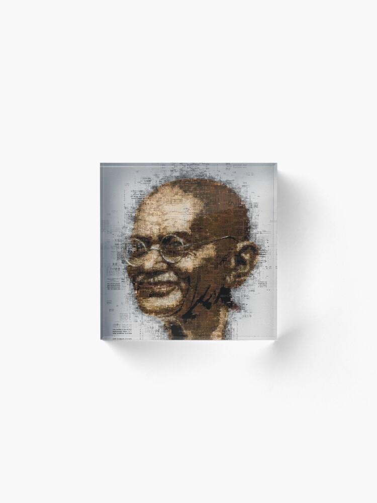 Alternate view of Gandhi Acrylic Block
