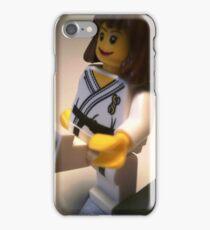 Judo Karate Martial Arts Girl Custom Minifigure iPhone Case/Skin