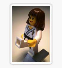 Judo Karate Martial Arts Girl Custom Minifigure Sticker