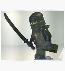 Black Ninja Custom Minifigure Poster
