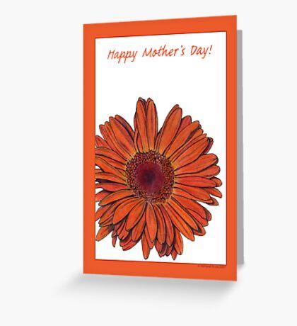 Gerbera Mother's Day Greeting Card