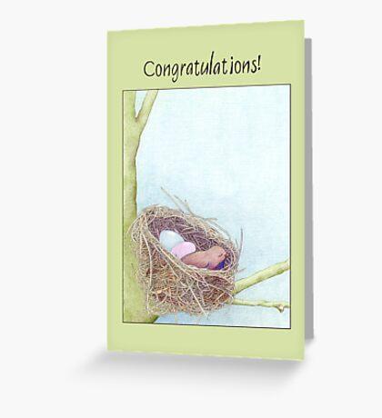 Bird's Nest Congratulations Greeting Card