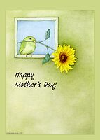 Sunflower Bird Mother's Day by Mariana Musa