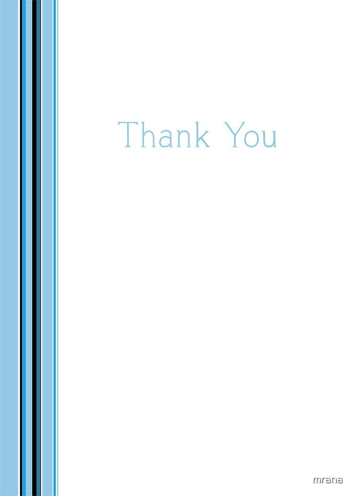 Blue Stripe Thank You by Mariana Musa