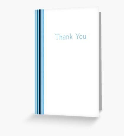 Blue Stripe Thank You Greeting Card