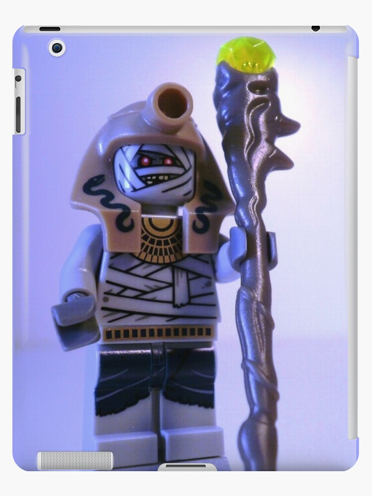 Mummy with Gold Head Gear with Custom Magical Jewelled Staff by Customize My Minifig