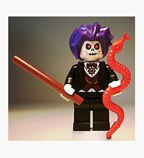Evil Magician Custom Minifigure with Magic Wand & Snake Photographic Print