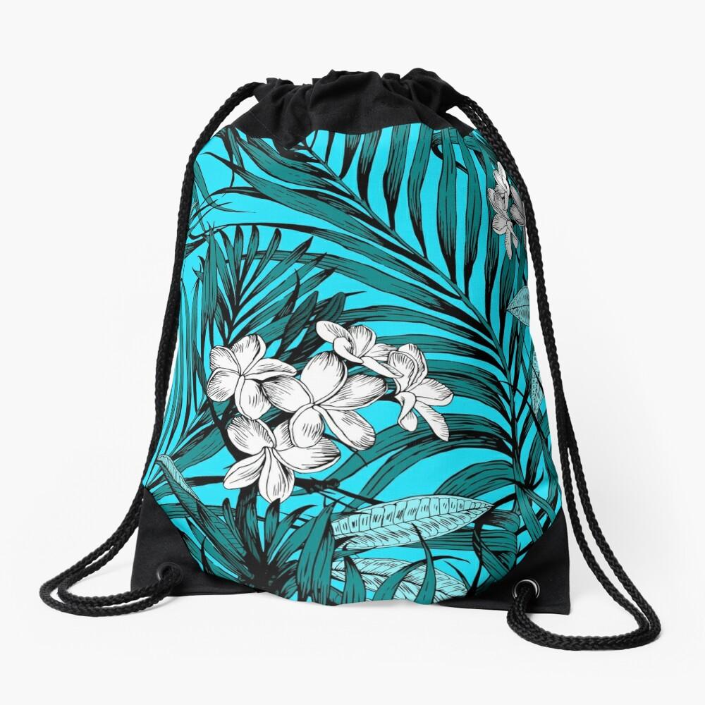 tropical pattern Drawstring Bag