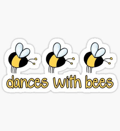 Dances with bees Sticker