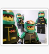 Motorcycle Stunt Team Minifigures Sticker