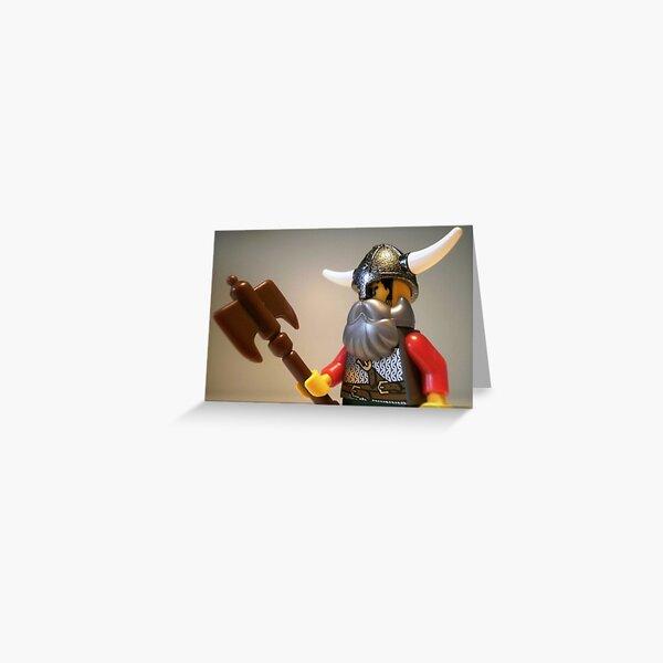 Viking Warrior with Custom Battle Axe Greeting Card