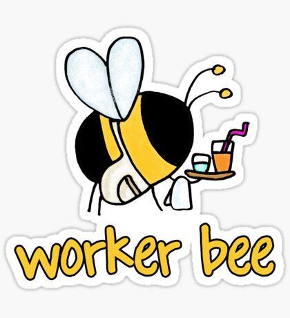 Worker bee - waiter/waitress/catering Sticker