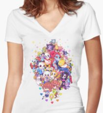 Undertale Color Women's Fitted V-Neck T-Shirt