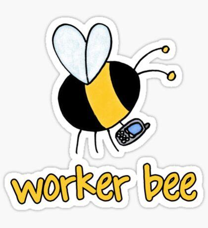 Worker bee - sales/receptionist Sticker