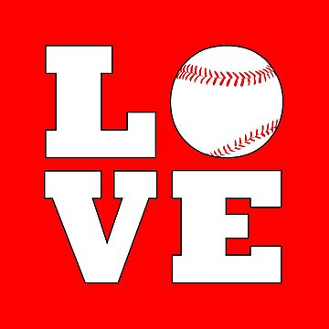 For the Love of Baseball Square Graphic by BillyBoomstick