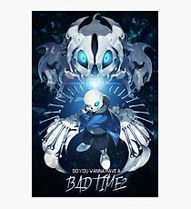Bad time Sans Photographic Print