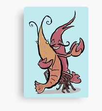 swaying lobsters Canvas Print