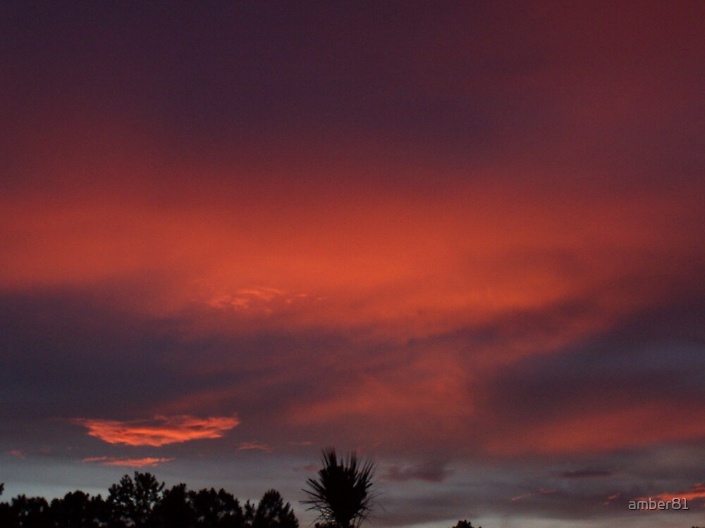 Red sky at night, sailors' delight by amber81