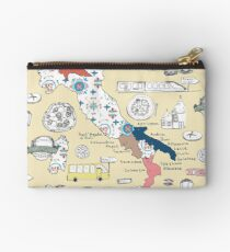 Illustrated Italy Foodie Map Studio Pouch