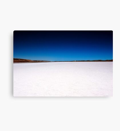 Port Gregory Pink Lake  Canvas Print