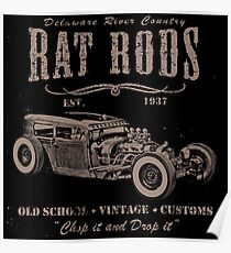 Delaware River Country Rat Rods Poster