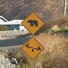 Caution Bears & Kids Playing by 2bearz