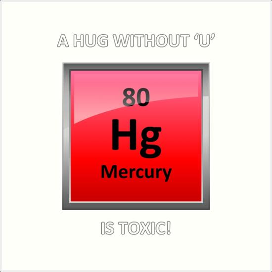Toxic Hugs Mercury Element Symbol Art Prints By Sciencenotes