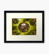 Group of H5N1 virus with glassy view. Framed Print