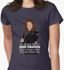 Boom tomorrow Women's Fitted T-Shirt