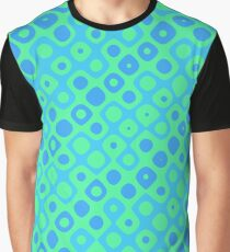 Brain Coral Blue Green Banded - Coral Reef Series 043 Graphic T-Shirt