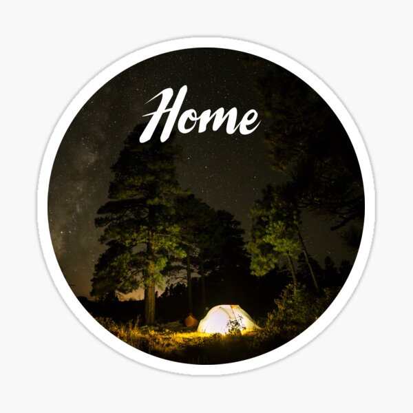 Home is Outdoors Camping Sticker
