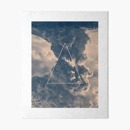 Inverted Cloud Triangle Art Board Print