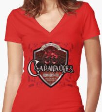 Cavanaugh's Irish Red Women's Fitted V-Neck T-Shirt