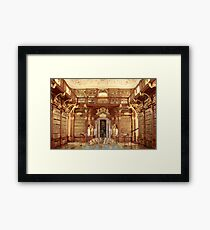 The Monastery Library, Melk, Austria Framed Print