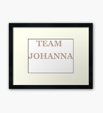 Team Johanna Framed Print
