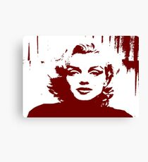 Sadness of Marilyn Monroe Canvas Print
