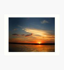Chobe Sunset Art Print
