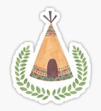 Earthy Teepee Sticker