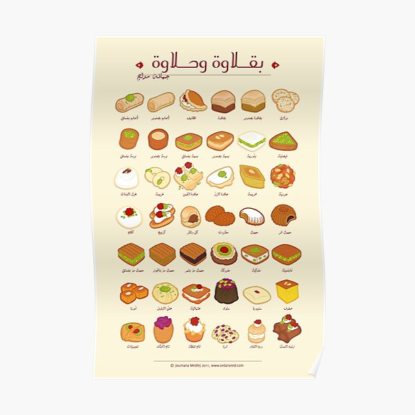Baklawa et Halawa (arabe) Poster