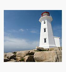 Peggys Cove Lighthouse Photographic Print
