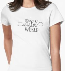 Wild World - Modern Typography Classic Rock Music Lyrics Design T-Shirt