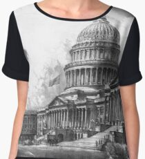 United States Capitol Building Chiffon Top