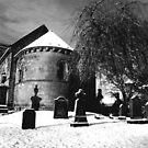 Dalmeny Kirk, Edinburgh, near South Queensferry by John Glynn ARPS