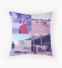 Country Race Meeting, back then...... Throw Pillow