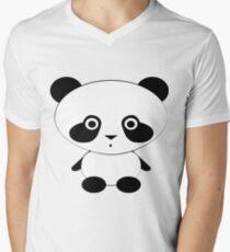Cute Panda Bear V-Neck T-Shirt