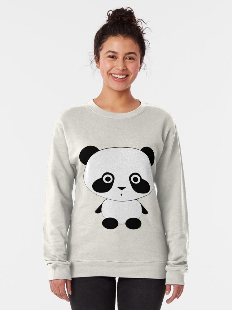 Alternate view of Cute Panda Bear Pullover Sweatshirt