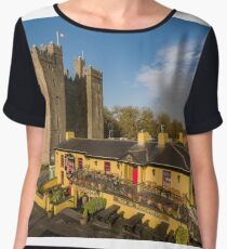 Aerial Bunratty Castle and Durty Nelly's Irish Pub Women's Chiffon Top