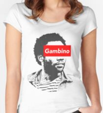 Childish Gambino art Women's Fitted Scoop T-Shirt